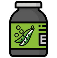 ilustração de suplemento de proteína